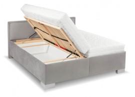 Zvýšená čalouněná postel s úložným prostorem Ester de Luxe