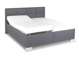 Zvýšená čalouněná postel s úložným prostorem Doris de Luxe