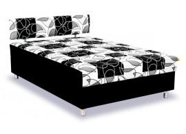 Čalouněná postel s čelem a úložným prostorem Mona