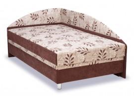 Čalouněná postel s čely a úložným prostorem Alexa