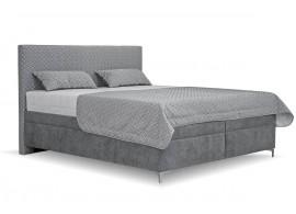 Čalouněná postel s úložným prostorem Sonia, 180x200, šedá