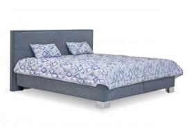 Čalouněná postel s úložným prostorem Oliver, 160x200, šedá