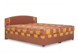 Čalouněná postel s úložným prostorem Kappa, oranžová