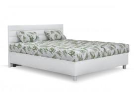 Čalouněná postel s úložným prostorem SPA, bílá