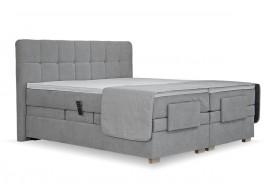 Americká postel boxspring Samara, 180x200, motorový rošt, šedá