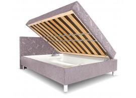 Čalouněná postel s čelem a úložným prostorem Zuzana