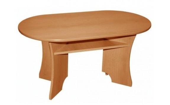 Konferenční stolek oválný 110x60 - KR01, lamino