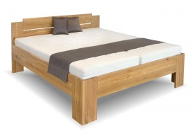 Manželská postel Grand, masiv dub, 180x200