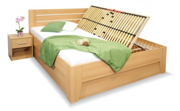 Manželská postel s úložným prostorem CANARIA