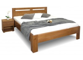 Zvýšená postel dvoulůžko HERKULES, masiv buk