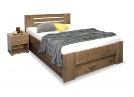 Zvýšená postel s úložným prostorem ROSA, masiv smrk, 120x200