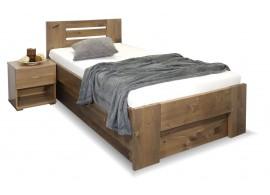 Zvýšená postel s úložným prostorem ROSA, masiv smrk, 90x200