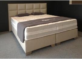 Moderní americká postel boxspring VEGA, béžovo-hnědá, VÝPRODEJ Z EXPOZICE