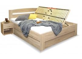 Manželská postel s úložným prostorem Maria, boční výklop, 160x200, 180x200