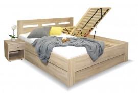 Manželská postel s úložným prostorem Pegas