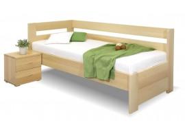 Zvýšená postel Valentin-Levá, 80x200, 90x200 cm, masiv buk