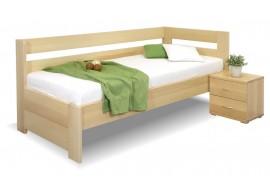 Zvýšená postel Valentin-Pravá, 80x200, 90x200 cm, masiv buk