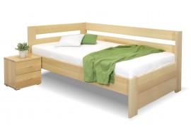 Zvýšená postel Valentin-Levá, 120x200 cm, masiv buk