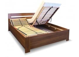 Manželská postel s úložným prostorem, čelní výklop LISA 160x200, 180x200
