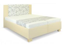 Zvýšená čalouněná postel s úložným prostorem Laura