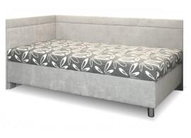 Čalouněná postel s úložným prostorem Sára, 110x200 cm