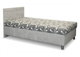 Čalouněná postel s úložným prostorem Adel, 110x200 cm