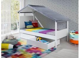 Dětská postel Pepe, s úložným prostorem, masiv borovice/lamino