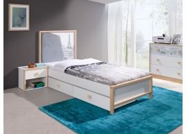 Dětská postel Paris, s úložným prostorem, masiv buk