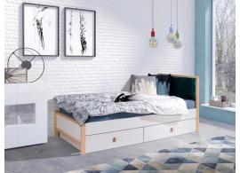 Dětská postel Zora, s úložným prostorem, masiv buk/lamino