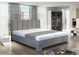 Zvýšená čalouněná postel s úložným prostorem Karin