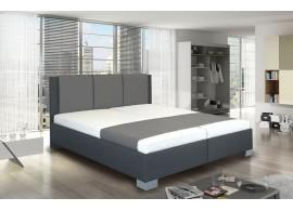 Zvýšená čalouněná postel s úložným prostorem Nikol