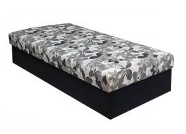Čalouněná postel s úložným prostorem Kuba, Šedohnědá-černá, 90x200 cm