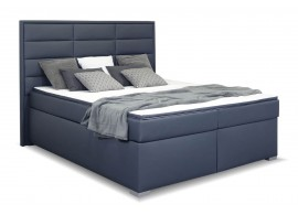 Americká postel boxspring s matrací a topperem NOMENTO, 180x200