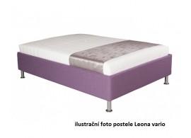 Čalouněná postel s úložným prostorem Leona vario, 110x200 cm, čelní výklop, SVĚTLE ŠEDÁ