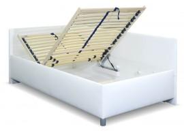 Zvýšená čalouněná postel s úložným prostorem Ryana, 90x200