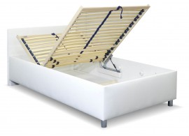 Zvýšená čalouněná postel s úložným prostorem Lyoneta, 90x200