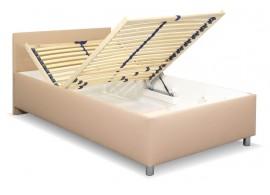 Zvýšená čalouněná postel s úložným prostorem Lyoneta, 120x200