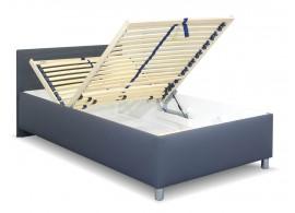 Zvýšená čalouněná postel s úložným prostorem Lyoneta, 140x200
