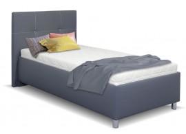 Čalouněná postel s úložným prostorem Crissy, 90x200, tmavě šedá