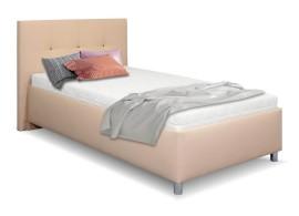 Čalouněná postel s úložným prostorem Crissy, 120x200, světle hnědá