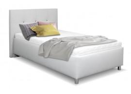 Čalouněná postel s úložným prostorem Crissy, 120x200, světle šedá