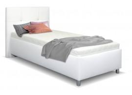 Čalouněná postel s úložným prostorem Crissy, 90x200, bílá