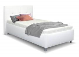 Čalouněná postel s úložným prostorem Crissy, 120x200, bílá