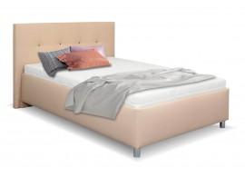 Čalouněná postel s úložným prostorem Crissy, 140x200, béžová