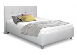 Čalouněná postel s úložným prostorem Crissy, 140x200, světle šedá
