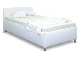 Zvýšená čalouněná postel s úložným prostorem Lyoneta, 90x200, bílá