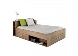 Multifunkční postel s úložným prostorem Pocket, 140x200, lamino, dub sonoma