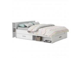 Multifunkční postel s úložným prostorem Pocket, 140x200, lamino, bílá