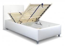 Čalouněná postel s úložným prostorem Crissy, 90x200