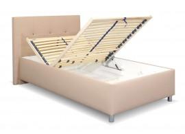 Čalouněná postel s úložným prostorem Crissy, 120x200